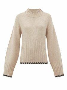 Khaite - Colette Whipstitched Cashmere Sweater - Womens - Cream