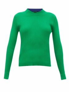 La Fetiche - Albini Ribbed-cotton Sweater - Womens - Green
