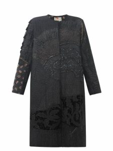 By Walid - Tanita Embroidered 19th-century Silk Coat - Womens - Black
