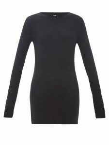 Rick Owens - Longline Wool Sweater - Womens - Black
