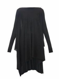 Rick Owens - Handkerchief-hem Merino-wool Poncho - Womens - Black