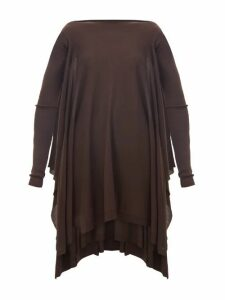 Rick Owens - Round-neck Merino-wool Poncho - Womens - Brown