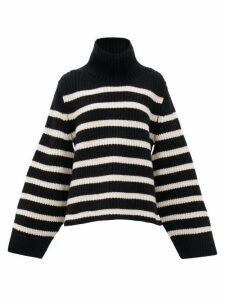 Khaite - Molly Stripe-intarsia Cashmere Sweater - Womens - Black White