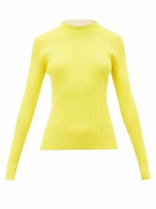La Fetiche - Albini Ribbed-cotton Sweater - Womens - Yellow