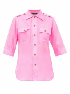 La Fetiche - Alice Silk-georgette Shirt - Womens - Pink