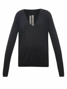 Rick Owens - V-neck Wool Sweater - Womens - Black