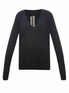 Rick Owens - V-neck Wool Sweater - Womens - Black