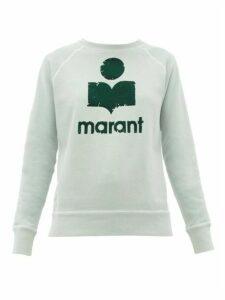 Isabel Marant Étoile - Milly Flocked-logo Cotton-blend Sweatshirt - Womens - Green