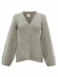 Khaite - Lucy Flared-sleeve Cashmere-blend Cardigan - Womens - Grey