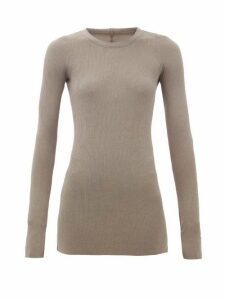 Rick Owens - Long-sleeved Ribbed-jersey T-shirt - Womens - Grey