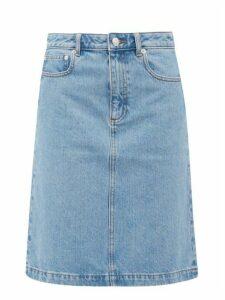 A.P.C. - Rosalie A-line Denim Skirt - Womens - Light Denim