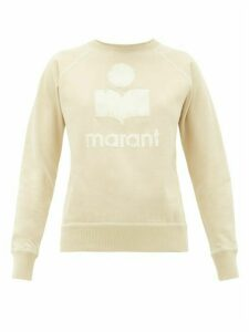 Isabel Marant Étoile - Milly Flocked-logo Cotton-blend Sweatshirt - Womens - Beige