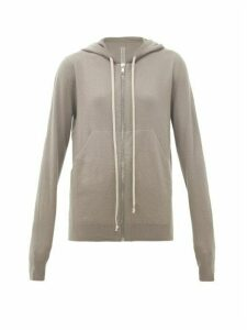 Rick Owens - Zip-through Boiled-cashmere Hooded Sweatshirt - Womens - Grey