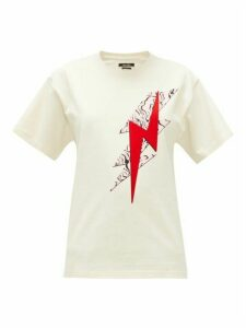Isabel Marant - Yates Lightening-flock Cotton T-shirt - Womens - White Multi