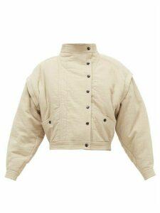 Isabel Marant Étoile - Boston Cotton-blend Bomber Jacket - Womens - Khaki