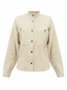 Isabel Marant Étoile - Barney Cotton-blend Cheesecloth Shirt - Womens - Khaki