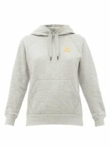 Isabel Marant Étoile - Flocked-logo Cotton-blend Hooded Sweatshirt - Womens - Grey