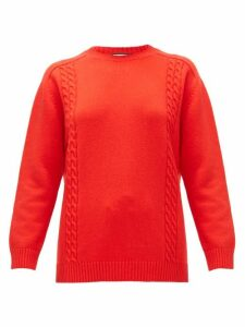 Gucci - Gg-embroidered Wool Sweater - Womens - Red