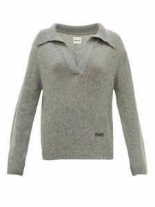Khaite - Marisa Open-collar Cashmere Sweater - Womens - Grey