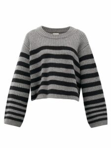 Khaite - Striped Cashmere Sweater - Womens - Grey Multi