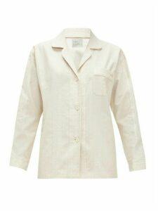 Hillier Bartley - Paisley-jacquard Cotton Pyjama Shirt - Womens - Cream