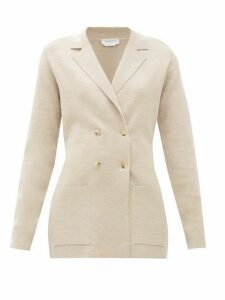 Gabriela Hearst - Kent Double-breasted Wool-blend Blazer - Womens - Beige