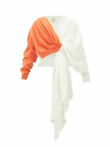 A.w.a.k.e. Mode - 2tone Draped Top - Womens - Orange White