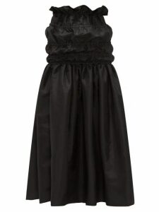 Romance Was Born - Opera Ruched-waist Taffeta Maxi Skirt - Womens - Black