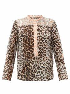 La Prestic Ouiston - Romee Leopard-print Silk-mousseline Blouse - Womens - Leopard
