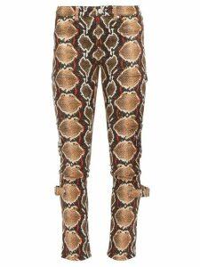 Burberry - Ozie Python-print Skinny Jeans - Womens - Beige Multi