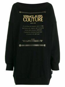 Versace Jeans Couture logo sweatshirt - Black