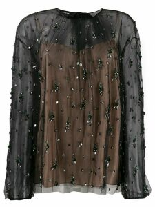 Rochas crystal embellished blouse - Black