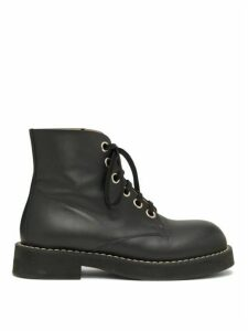 Marni - Lace-up Leather Boots - Womens - Black