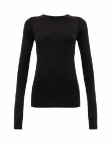 Rick Owens - Long-sleeved Stretch-jersey Top - Womens - Black