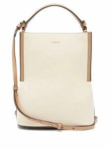 Burberry - Peggy Leather Bucket Bag - Womens - Cream Multi