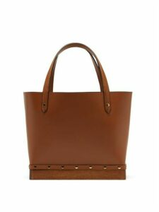 Altuzarra - Clog Small Studded Leather Tote Bag - Womens - Brown