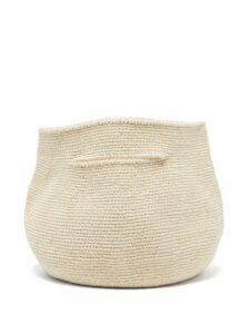 Lauren Manoogian - Baby Bowl Cotton And Linen Handbag - Womens - Beige