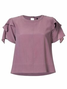 Taylor Adorn ruffled sleeve top - PURPLE
