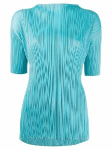 Pleats Please Issey Miyake pleated blouse - Blue