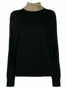 Paco Rabanne two tone jumper - Black