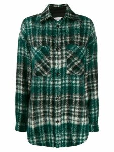 Faith Connexion oversized plaid shirt - Green