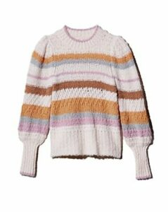 Rebecca Taylor Fluffy Striped Sweater