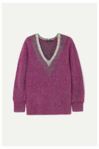 rag & bone - Jonie Brushed Knitted Sweater - Purple