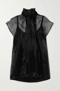 Prada - Pussy-bow Silk-organza Blouse - Black