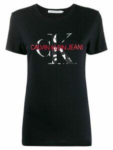 Calvin Klein Jeans logo print T-shirt - Black