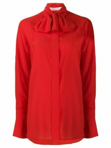 Victoria Beckham tie neck silk blouse - Red