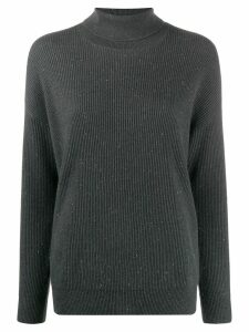 Brunello Cucinelli speckled turtleneck jumper - Grey