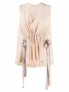 RedValentino tie ribbon top - NEUTRALS