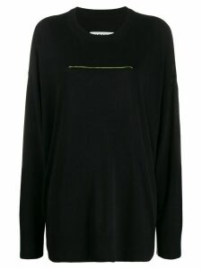 Mm6 Maison Margiela contrast stitch jumper - Black