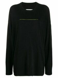 Mm6 Maison Margiela contrast stitch jumper - Black